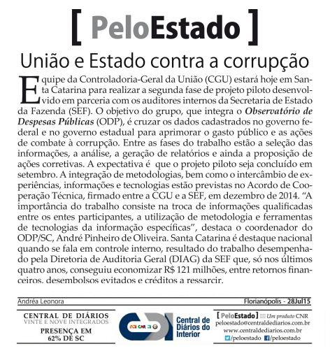 2807 - Pelo Estado - União e Estado contra a corrupção