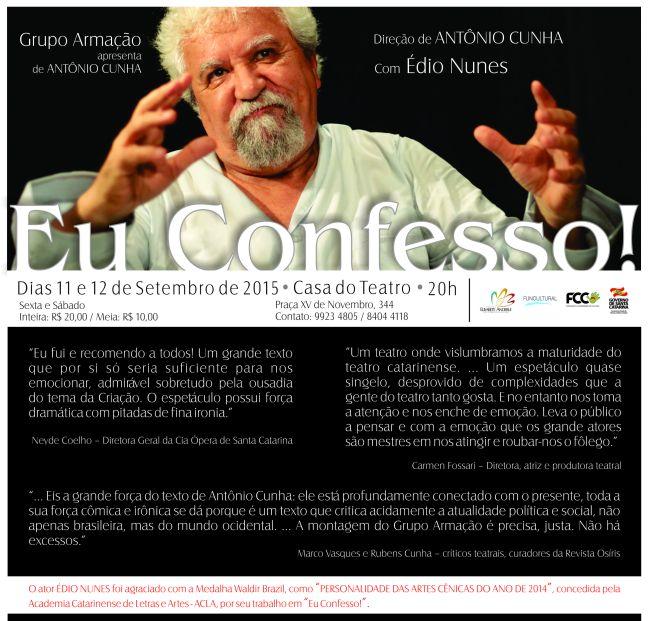 Folder  Eu Confesso 0915