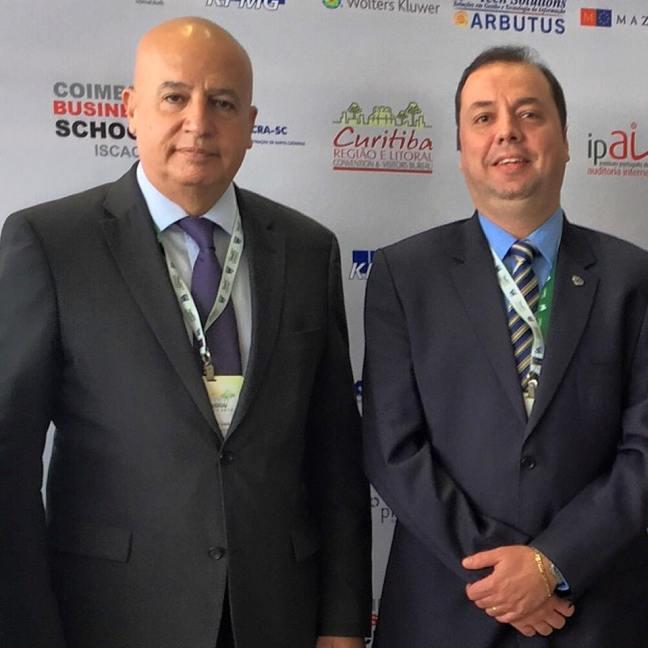 Ministro-chefe da CGU ao lado do presidente do IIA Brasil, Andre Marini