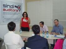 Tatiana agradeceu os colegas e falou sobre a importância da valorização da carreira. Ela assume no dia 1º de maio de 2016