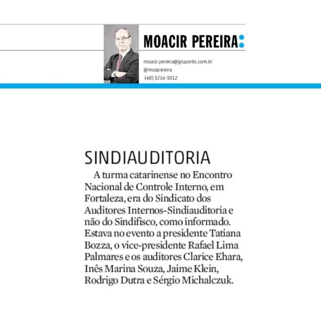 06082016 - DC - Moacir Pereira - Sindiauditoria