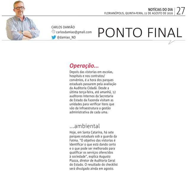 11082016 - Carlos Damião - ND - Meio Ambiente