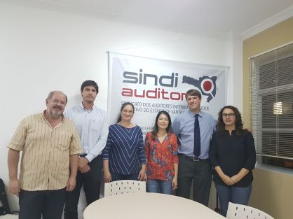 Alguns integrantes da nova diretoria do Sindiauditoria para o ano 2017/2018
