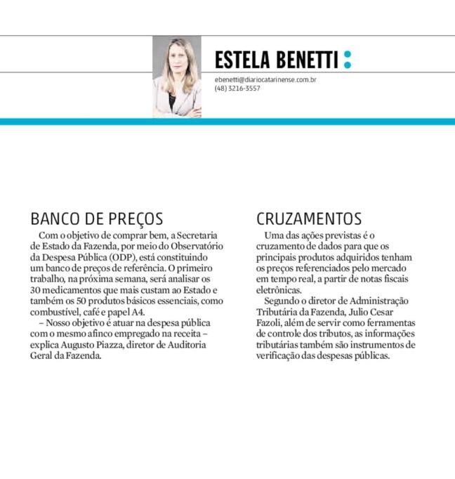 06042017 - DC - Estela Benetti - Banco de preços