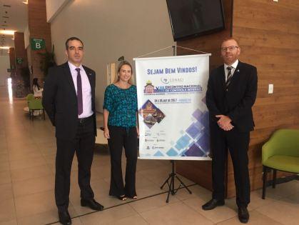 De Santa Catarina, os auditores internos do Poder Executivo Frederico da Luz, Marisa Zikan e Rodrigo Stigger Dutra (Foto: Sindiauditoria/Divulgação)